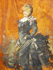 Octave GUILLONNET (1872-1967) RARE ŒUVRE DE JEUNESSE 1888 Arlesienne Musées