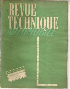 REVUE TECHNIQUE AUTOMOBILE 100 RTA 1954 ETUDE RENAULT CELTAQUATRE