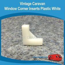 Caravan WINDOW CORNER INSERT PLASTIC ( 2 Pieces ) Vintage Viscount Millard W0131