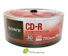SONY Blank Music CD-R CDR Branded 80min Digital Audio 30 pack Media Disc