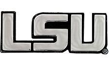 LSU Tigers Script SD74463 Metal Chrome Auto Emblem University of Louisiana State