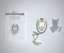Omron Walking Style HJ-112 Digital Pocket Pedometer Tested Manual Clip