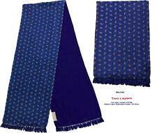 Unisex Premium Quality Unique Reversible Wool & Silk Long Scarf Paisley 2164