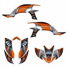 Yamaha YFZ 450 graphics Decal kit 2003 2004 2005 2006 2007 2008 #3737-Orange