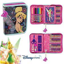 NEW Disney Store TinkerBell Stationary Zip-Up Kit Art Case School Supplies Girls