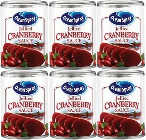 Ocean Spray Jellied Cranberry Sauce 6 Can Pack