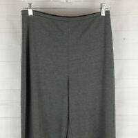 Merona womens size M stretch gray flat front elastic waist pull-on pants