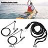 Safety Kayak Canoe Boat Paddle Leash Fishing Rod Coiled Lanyard Cord Elastic JE