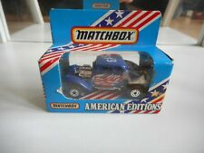 Matchbox American Editions '33 Willys Street Rod in Blue in Box