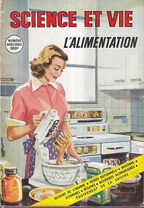 SCIENCE ET VIE hors série 1953 alimentation menu boisson diététique