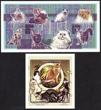 Mint Never Hinged/MNH Cats African Stamp Blocks
