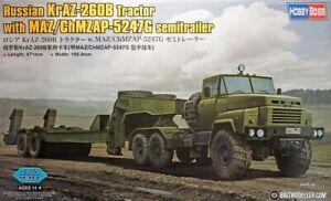 Hobbyboss 85523 1:35th scale Russian KrAZ-260B & ChMZAP-5247G