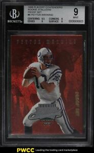 1998 Playoff Contenders Stallions Proof Set Peyton Manning ROOKIE RC 1/1 BGS 9