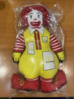 "Vintage 1984 Ronald McDonald Clown Plush Toy 12"" Doll Sealed in Original Package"