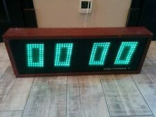Soviet Vintage Digital Nixie Tube Wall Clock Elektronika 7-06K Wooden Body USSR