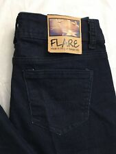 Almost Famous Jeans Size 1 25x32 Flare Leg Dark Rinse Wash Stretch Denim NWT