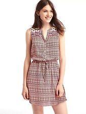 NWT Gap Medallion shirt dress, Pink Floral SIZE XS       #638215  v66