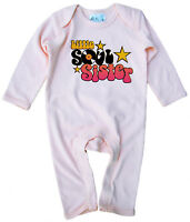 "Baby Girl Romper Suit ""Little Soul Sister"" Cool Music Funk Clothes"