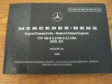Repair Manuals Literature For 1985 Mercedesbenz 190e Sale Ebay. Mercedesbenz Type W201 Parts Catalog Manual 190e 23 190d 22 1983 1987 1985. Mercedes Benz. For Mercedes Benz 190e Parts Diagrams At Scoala.co