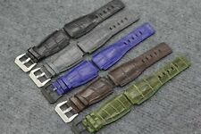 24/24mm Genuine Alligator, Crocodile Leather Watch Strap Band For Bell &Ross 099