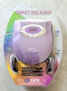 Vtg 90's 2000's NEW NOS GPX Anti-Skip CD Walkman Player CDRW PURPLE FREE US SHIP