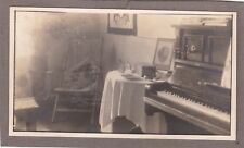 1910s Lovely interior piano chair table decorations old Russian antique photo