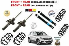 FOR VW TIGUAN 2007-> FRONT + REAR 4X SHOCK ABSORBER SET + 4 X COIL SPRINGS KIT