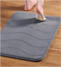 Memory Foam Soft Bathroom Bedroom Non Slip Floor Shower Mat Rug 17x24in