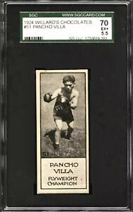 1923 PANCHO VILLA RC *HOF* BOXER (POP 1) SGC 5.5 WILLARD CHOCOLATE PSA **RARE**