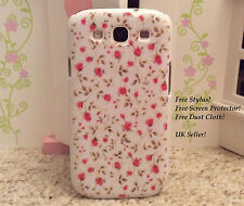 RETRO CUTE SHABBY CHIC FLORAL COVER FOR SAMSUNG GALAXY S3 HARD PHONE CASE