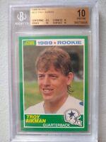 1989 Score #270 Troy Aikman Rookie Card RC HOF BGS 10 Pristine