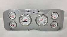 1955 1956 1957 1956 1959 GMC 6 Metric Gauge Dash Cluster Set Billet Insert White
