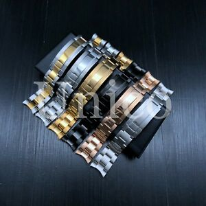 20 21 MM Steel Watch Clasp Bracelet Curved Fits Rolex Sub President Oyster 2020
