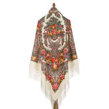 Pawlow Posad//Pavlovo Posad russischer Schal-Tuch Tradition 148x148 Wolle 1757-15