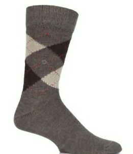 Burlington Preston Argyle Socks Brown size 6½ to 11Edinburgh Wm Rrp£14 ref cl29