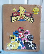 RARE Sabans Power Rangers Cork Bulletin Board Yellow Blue Red Pink Black SEALED