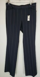 NWT EXPRESS Womens Striped EDITOR Barely Boot Low Rise Size 10 Dress Pants 33x33