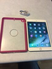 Apple iPad mini 3 16GB Wi-Fi + Cellular Sprint 7.9in Gold EXCELLENT SHAPE #A1911