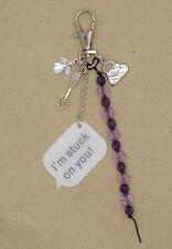 Angel Heart Arrow I'm Stuck on You Beads Bag Charm Key Chain