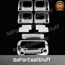 FOR FORD 08-16 F-250/350 SUPER DTY Chrome 4DRS Handle w/o PSKH+Tailgate Cover KH
