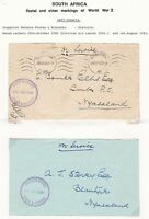 * 1940/1  2 SOUTH AFRICA WW2 ON SERVICE CACHET COVERS INSPECTOR DEFENCES STORES