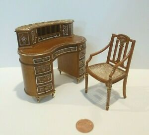 BESPAQ DOLLHOUSE MINIATURE LILIANA CHANTAL YOUTH DESK 2513UF UNFINISHED WOOD