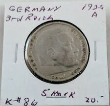 1935 A Germany Third Reich 5 Reichsmark