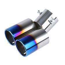 Universal Chrome Stainless Steel Car Rear Dual Exhaust Pipe Tail Tip Muffler uk.