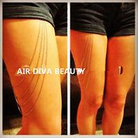 NEW Women girl 90' Gothic beach Shorts' thigh leg body chain metallic jewellery