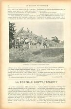 Douaires Charpentiers Hangar / Torpille Navale Schwartzkopff Russie GRAVURE 1905