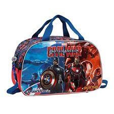 Marvel civil War bolsa de viaje 27.72 litros color rojo