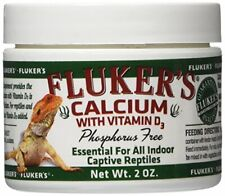 Fluker's Calcium Reptile Supplement with added Vitamin D3 - 2oz.