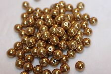 100 glass pearls 8mm in coffee finish (5077)