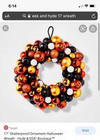 "17"" Shatterproof Ornament Halloween Wreath - Hyde & EEK! Boutique"